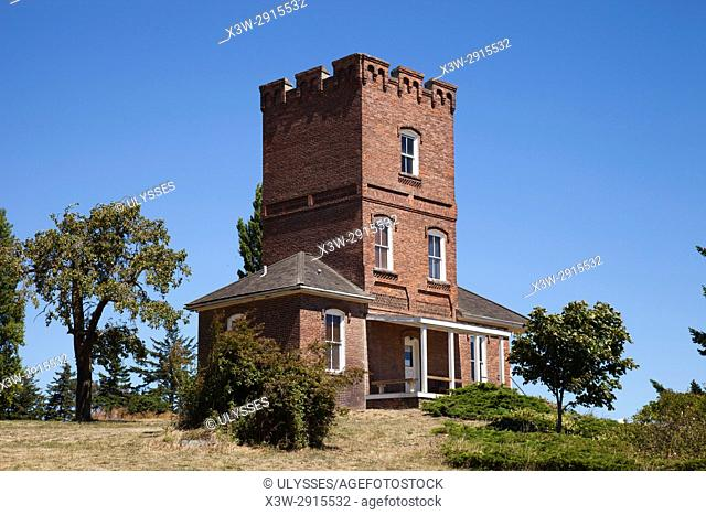 Alexander's Castle, Fort Worden State Park, Port Townsend, State of Washington, USA, America