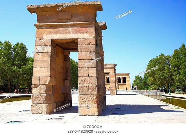 Ancient egyptian temple of Debod in Madrid, Spain