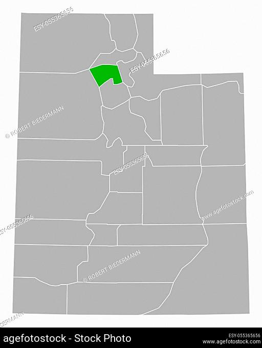 Map of Davis in Utah