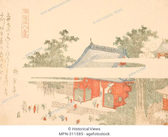 Ryuryukyo Shinsai. Mii Temple, from the series - - Eight Views of Omi (Omi hakkei) - - - early 19th century - Ryuryukyo Shinsai Japanese, c. 1764-1820