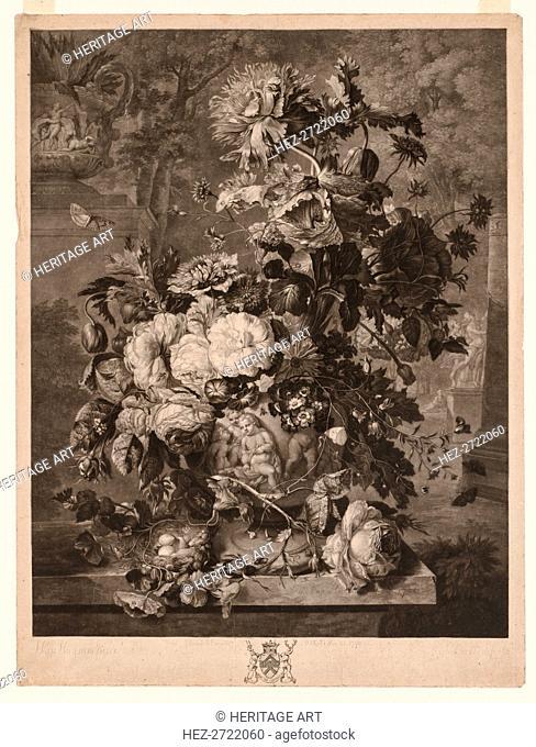 A Flower Piece, 1778. Creator: Richard Earlom (British, 1743-1822)