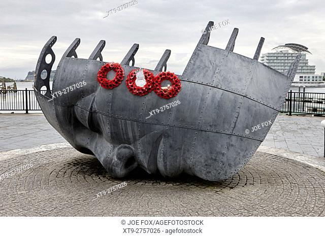 merchant seamans memorial Cardiff Bay Wales United Kingdom