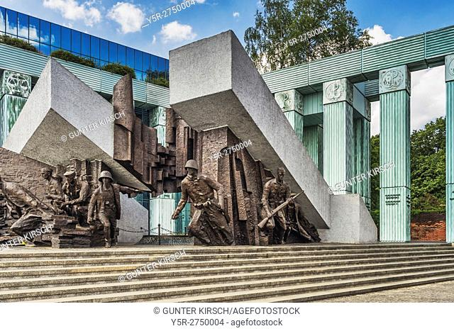 The Warsaw Uprising Monument (Pomnik Powstania Warszawskiego) is reminiscent of the fighters of the Warsaw Uprising of 1944