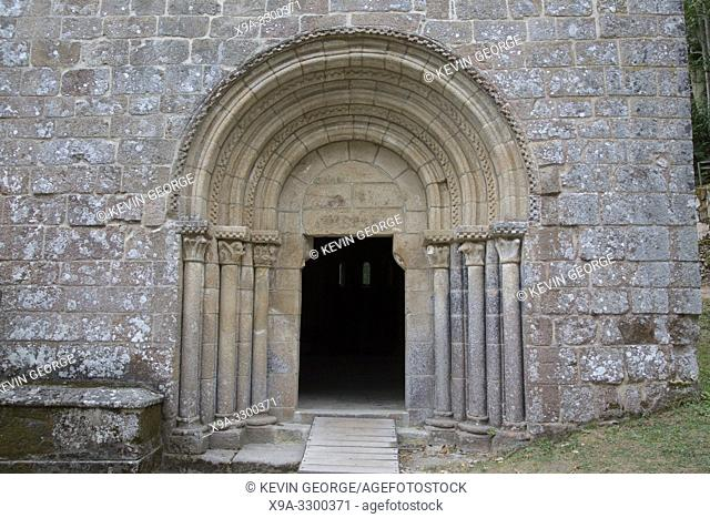 Entrance of Santa Cristina Monastary Church, Parada de Sil, Orense, Galicia, Spain