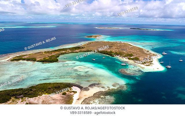 Aerial View, francisky Waterscape Archipelago los roques venezuela