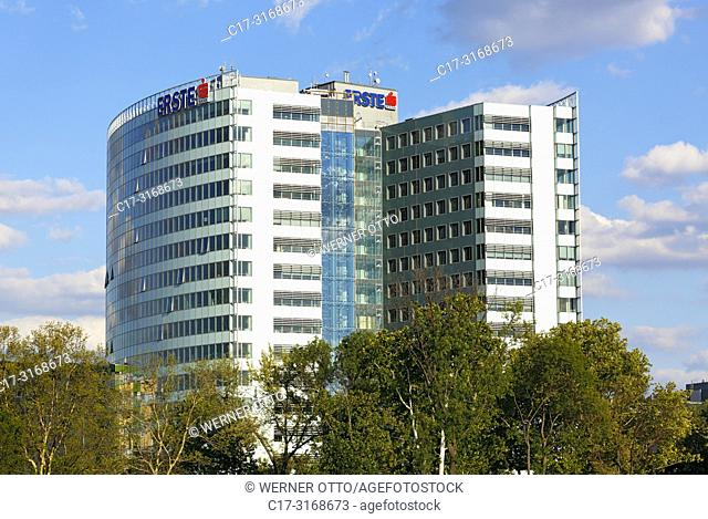 Budapest, Hungary, Central Hungary, Budapest, Danube, Capital City, bank building, highrise, Erste Bank ATM, Erste Bank Hungary, Sparkasse Austria