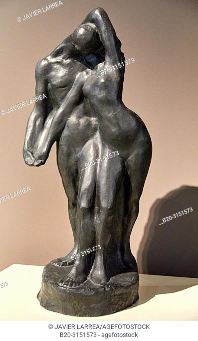 """""""The Couple"""", 1904, Pablo Gargallo, National Museum of Catalan Art, Museu Nacional d Art de Catalunya, MNAC, Barcelona, Spain, Europe"