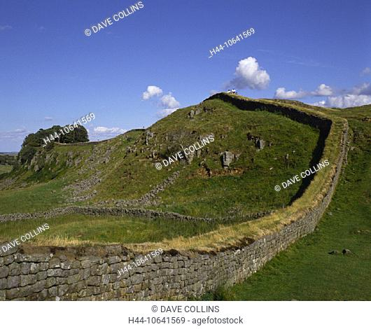 10641569, buildings, England, Great Britain, Europe, Hadrian's embankment, historical, culture, wall, walls, Northumberland, R