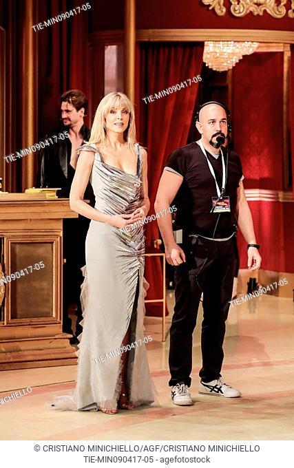 Marla Maples guest at the tv show Ballando con le stelle, Rome, ITALY, 08-04-2017
