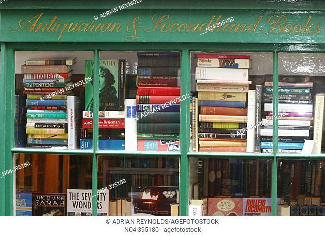 London used books shop in Hampstead. London. England. UK