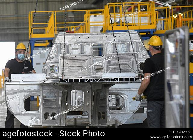 Views of the factory Hitachi Rail Italy in Pistoia , ITALY-17-06-2021