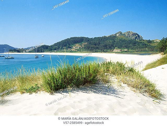Rodas beach. Cies Islands, Atlantic Islands National Park, Pontevedra province, Galicia, Spain