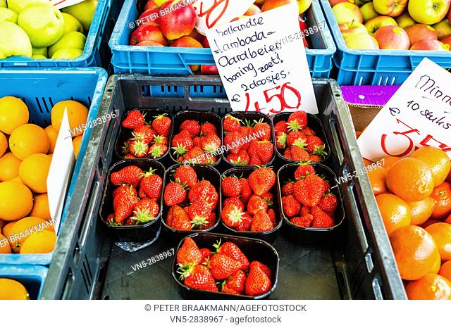 Stampersgat - The Netherlands - Fruit and vegetable stall at the market