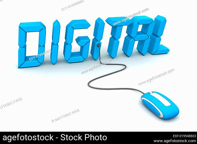 Browse Digital in Blue - LCD Style