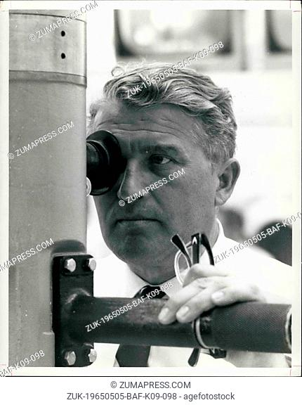 May 05, 1965 - Cape Kennedy - Dr. Wernher Von Braun, Director Of The NASA-Marshall Space Center, Huntsville, ALA., Observes The Saturn I Space Vehicle SA-8...