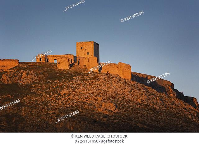 Teba, Malaga, Andalusia, Spain; Castillo De La Estrella (Castle Of The Star), Scene Of The Battle Of Teba, August 25, 1330