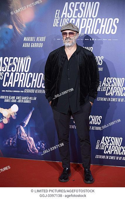 Roberto Alamo attends 'El asesino de los caprichos' premiere at Verdi Cinema on October 15, 2019 in Madrid, Spain