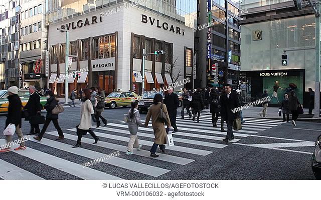 Ginza. Harumi St.Tokyo city, Japan, Asia