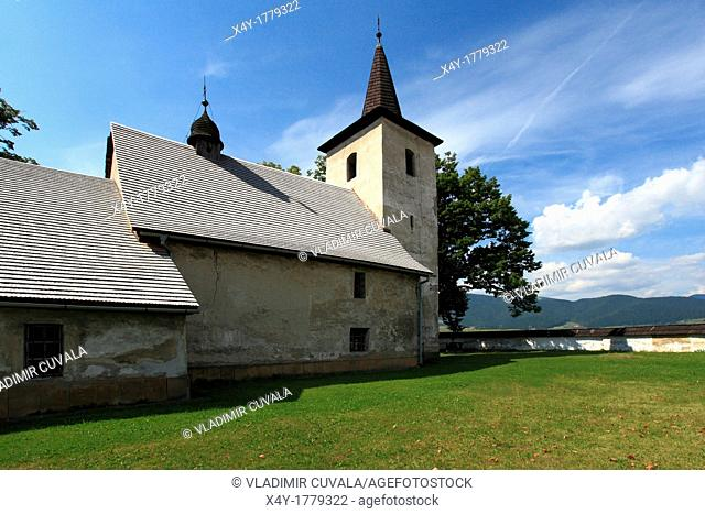 Early gothic church in Ludrova near Ruzomberok, Slovakia  The interior of the church is covered with valuable historic fresco's depicting tales from Holy Bible
