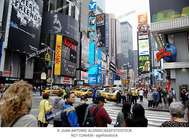 Broadway at 45th Street. Times Square. Theater District. Manhattan. New York, New York. USA