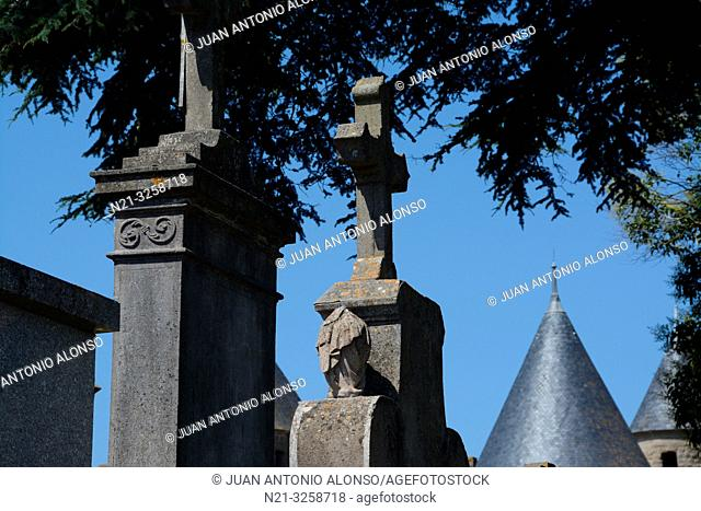 Carcassonne Cemetery. Carcassonne. Languedoc-Roussillon, France