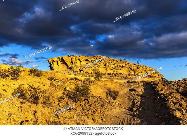 sunset at Tagoro ravine (Granadilla de Abona) (Tenerife island)