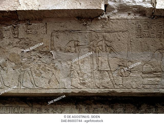 Relief, Great Temple of Amun, Tanis, Egypt. Egyptian civilisation, Third Intermediate Period, Dynasty XXII