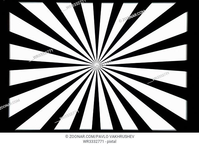Black and white camera and optical lens test pattern