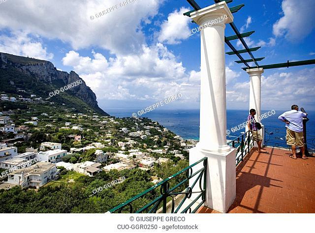 Capri belevedere, Capri island, Naples, Campania, Italy, Europe