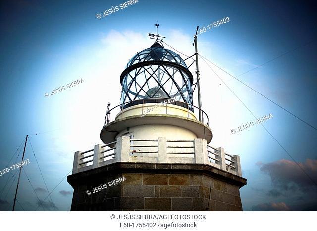 Lighthouse in Estaca de Bares, A Coruña, Galicia, Spain