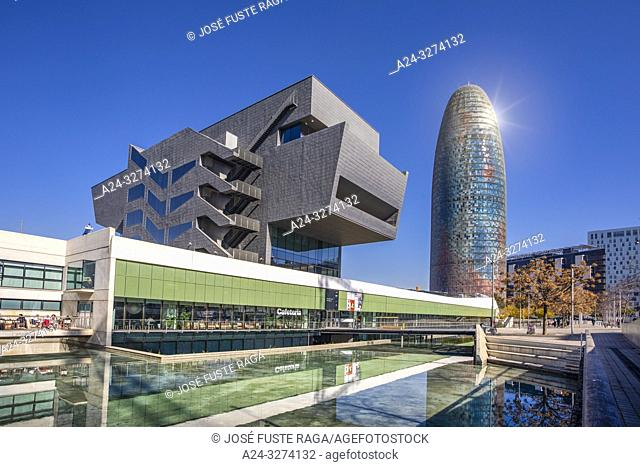 Barcelona City, Glorias square area, Agbar tower