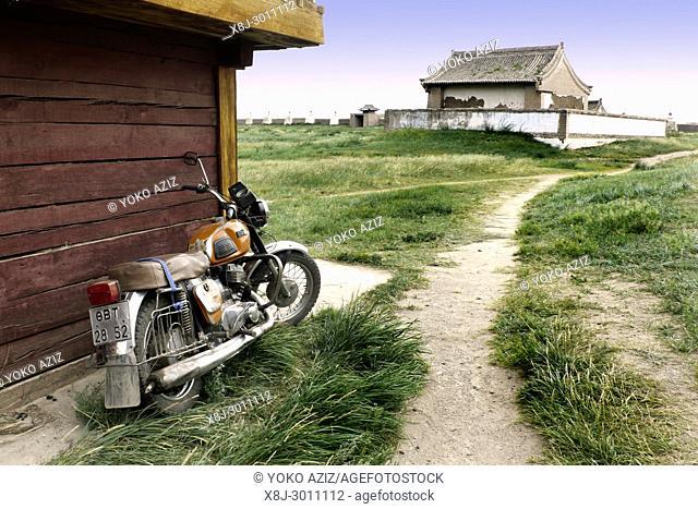 Motorbike, Karakhorin, Mongolia