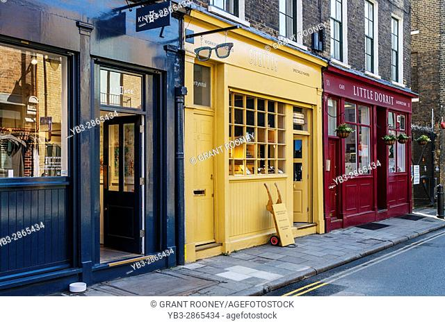 Colourful Shops and Cafes Near Borough Market, London, England
