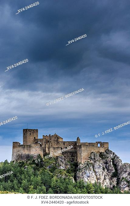 Loarre mediaeval Castle, 11th century. Huesca, Aragon, Spain