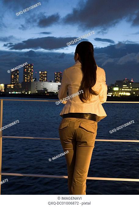 Woman enjoying night view