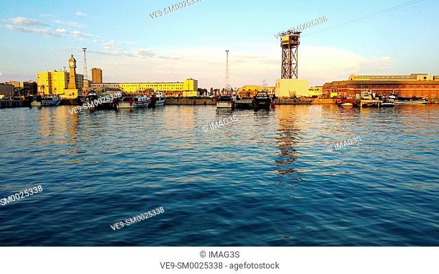 Barcelona fishing port, Barcelona, Catalonia, Spain