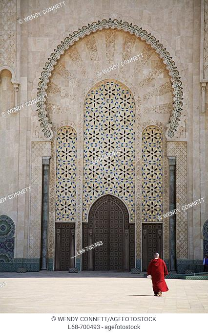 Hassan II Great Mosque at Casablanca. Morocco
