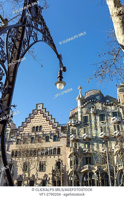 Spain, Catalonia, Barcelona. Casa Batllo, exterior view