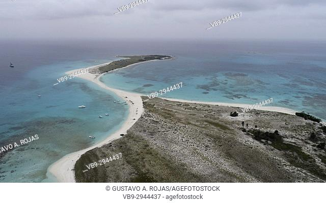 Aerial View, Caribbean Sea, cayo de agua Venezuela Waterscape