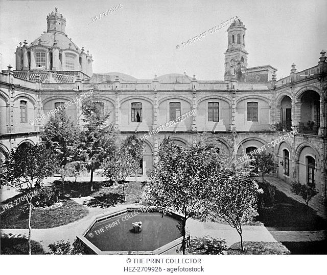 'The Old San Hipolito Convent, City of Mexico', c1897. Creator: Unknown