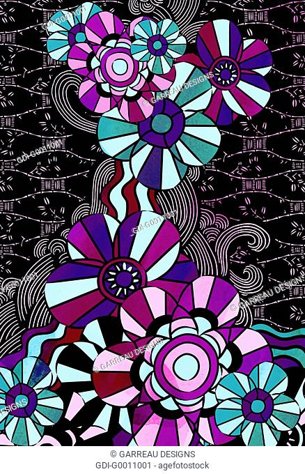 Geometric flower design