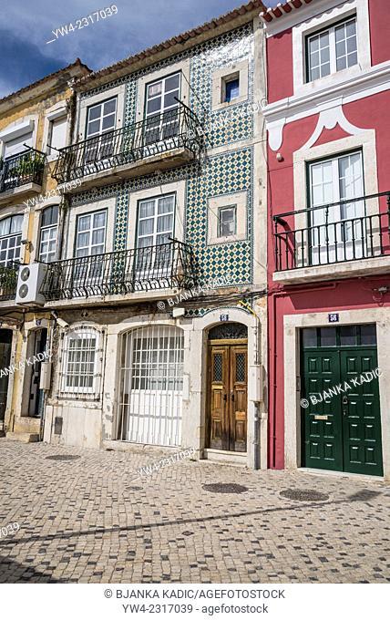 Picturesque houses, Belem district, Lisbon, Portugal