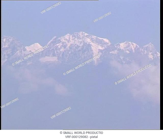 Pan of snow capped HImalayas. Nepal