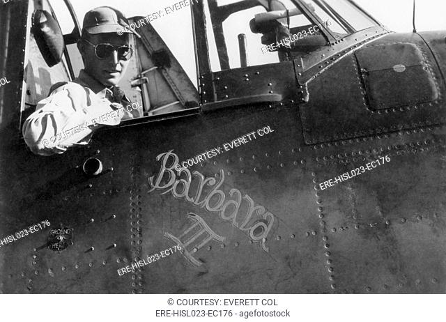 George Bush a naval aviator in the cockpit of his TBM Avenger a torpedo bomber during World War II. The plane was named for his girlfriend later his wife...
