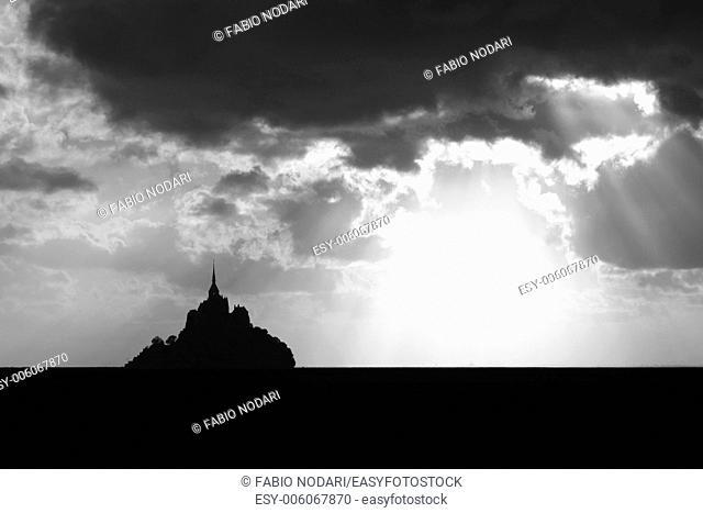 Sunset at Mont Saint Michel
