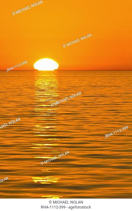Sunrise, Gulf of California Sea of Cortez, Baja California, Mexico, North America