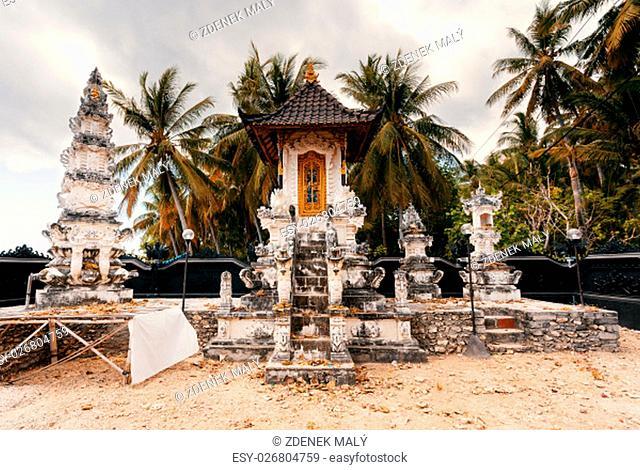 Very nice small Hindu Temple, Nusa Penida island, Bali, Indonesia