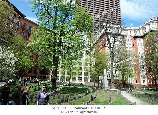 Boston, Massachusetts, U.S.A., the Granary Burying Ground