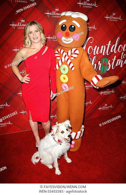 Hallmark Channel Screening of Christmas at Holly Lodge Featuring: Alison Sweeney, Happy the Dog, Gingerbread man figure Where: Los Angeles, California