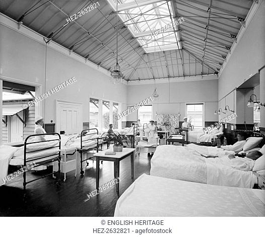Military hospital, Woburn Abbey, Bedfordshire, July 1915. Artist: H Bedford Lemere